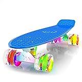 M Merkapa 22' Complete Skateboard with Colorful LED Light Up Wheels for Kids, Boys, Girls, Youths,...