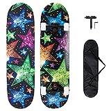 METROLLER Skateboards,31 x 8 Complete Standard Skate Boards for Girls Boys Beginner, 7 Layer...
