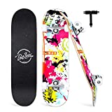 Beleev Skateboards for Beginners, 31 Inch Complete Skateboard for Kids Teens Adults, 7 Layer...