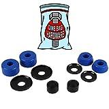 Dime Bag Hardware Skateboard Truck Rebuild Kit Bushings Washers Pivot Cups for 2 Trucks (88A Blue)