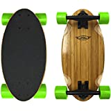 EasyGoProducts Mini Cruiser Wood Longboard Style Skateboard – Lightweight and Portable –...