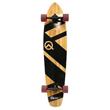 Quest Super Cruiser Artisan Bamboo Longboard Skateboard, 10 x 44-Inch Review