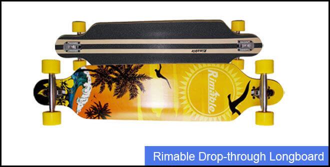 Rimable Drop-through Longboard