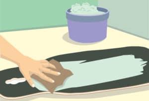 Clean your longboard