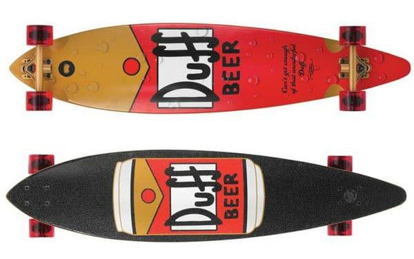 Santa Cruz Simpsons Duff Pintail Cruzer Skateboard