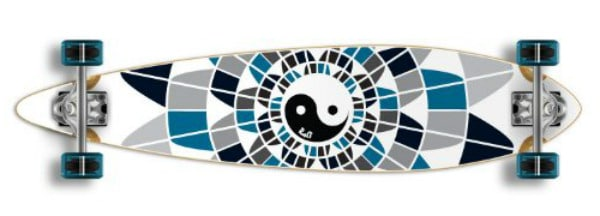 Special Graphic Complete Longboard PINTAIL Skateboard