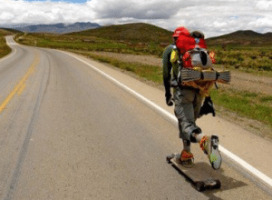 A Joyful Traveling with a Longboard