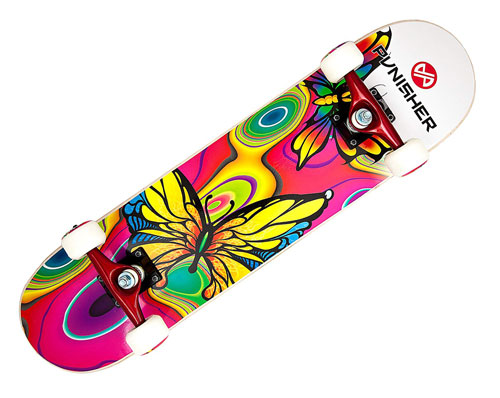 Punisher Skateboards Butterfly - Skateboard for Beginner Girl