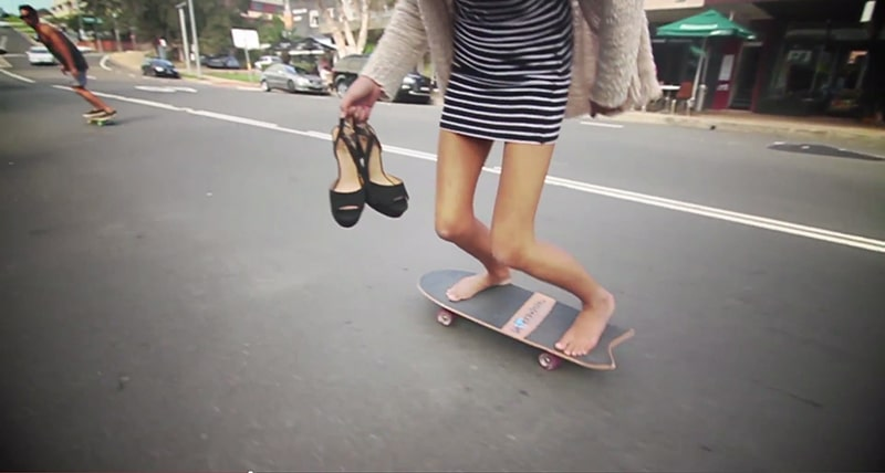 surfing skateboard