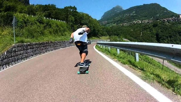 Hill Carving On a Longboard