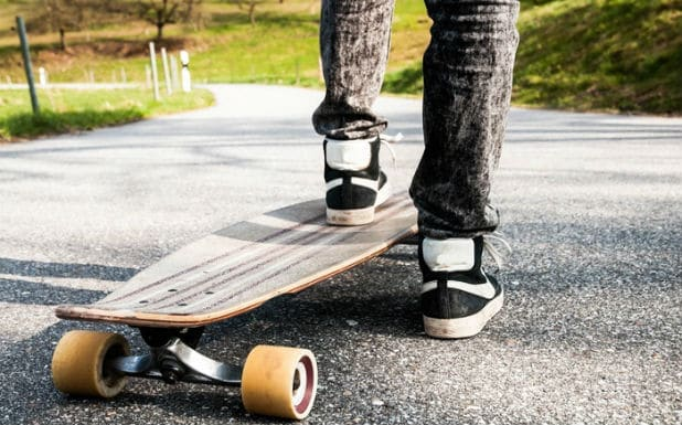 Stopping on a Longboard