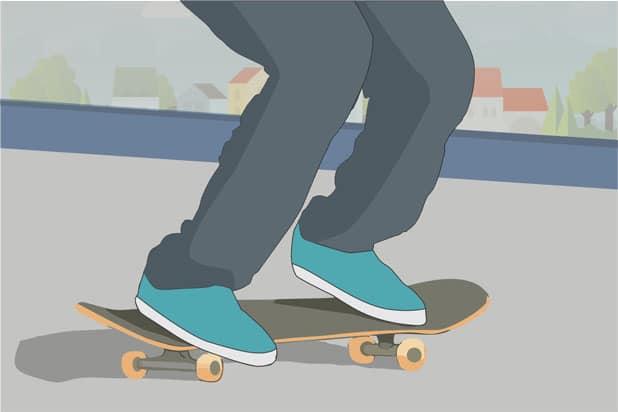 Ollie longboard