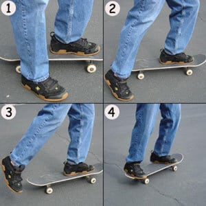 Steps to learn skateboard