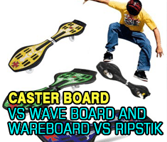 Caster Board vs. Wave Board and Wareboard vs. Ripstik