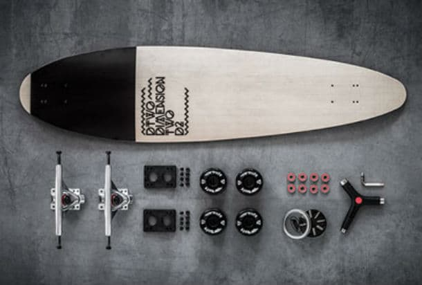 The Longboard Main Components