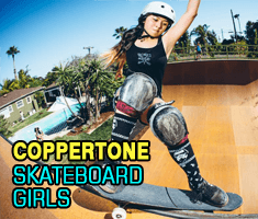 Coppertone skateboard girl