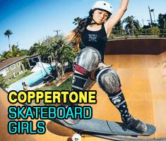 Coppertone skateboard girl