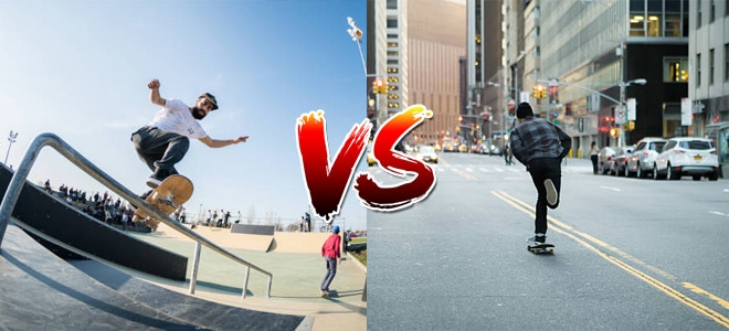 Freestyle Skateboard vs Street Skateboard