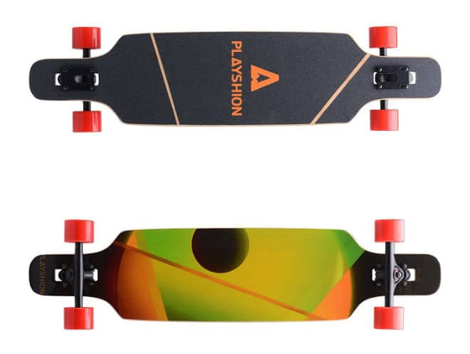 Playshion Bamboo Longboard Skateboard Complete