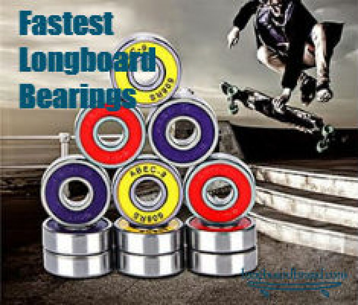 8 Skateboard Longboard Bearings PRECISION ABEC 9 RED SHIELD
