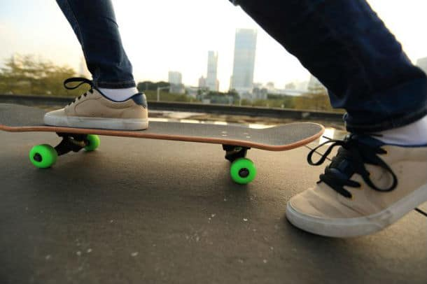 Moving with a skateboard