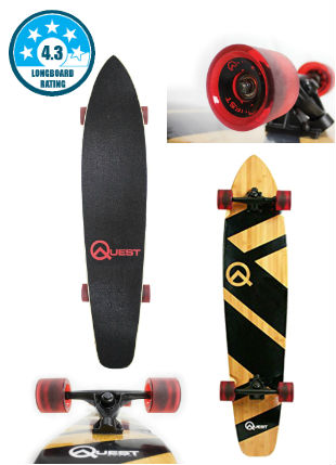 Best Beginner Longboards - The Quest Super Cruiser Longboard
