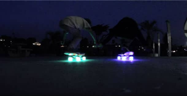 Luminous Wheels on Longboards