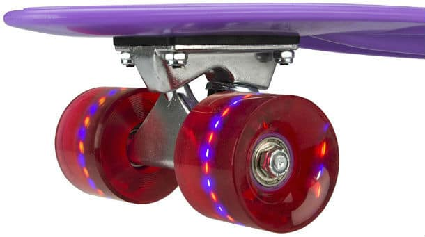 What Makes the Skateboard Wheel Twinkle?
