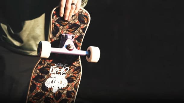 The longboard trucks and wheels