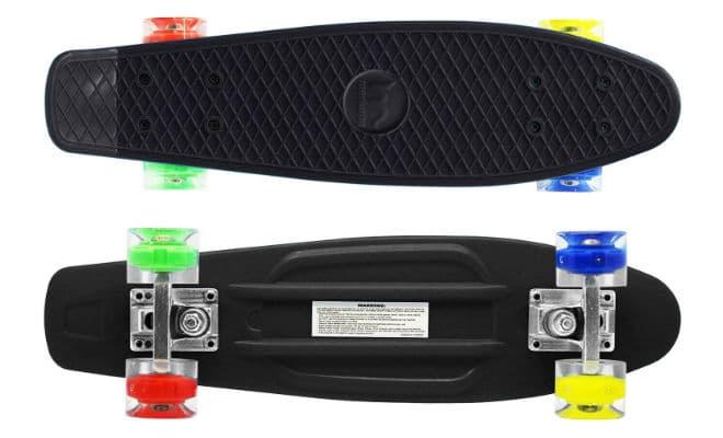 Merkapa 22inch Mini longboard with colorful LED light up wheels