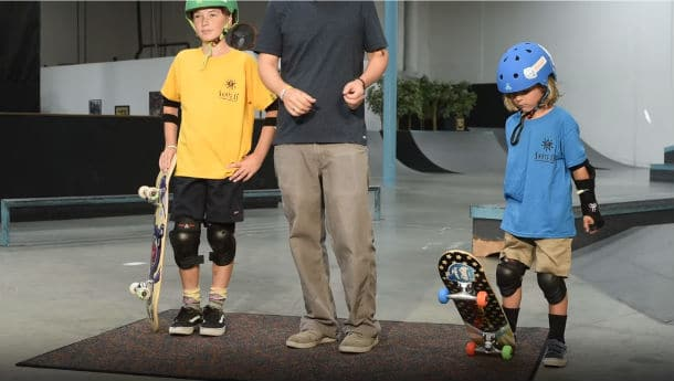 At what age will your children be able to exercise skateboard?