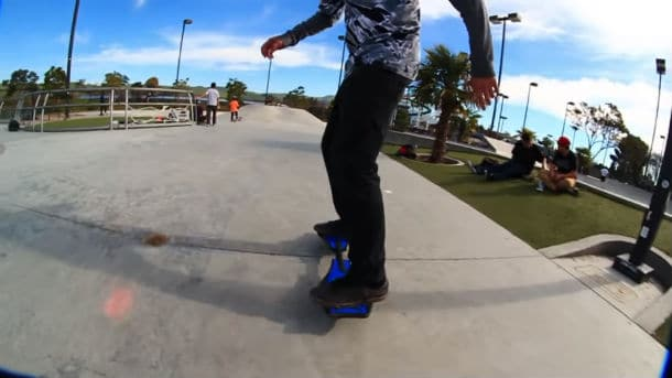 Ripstiks make the skateboard rings lively