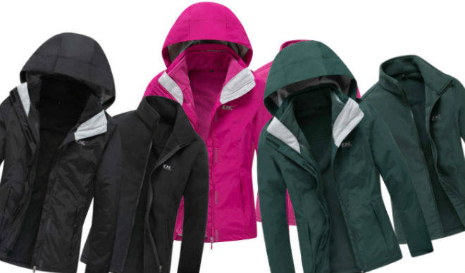 Diamond Candy Womens 3 in 1 Winter Ski Jacket
