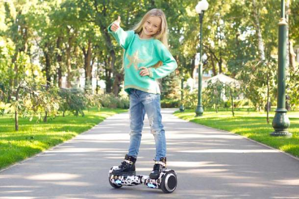 Hoverboards are ideal for kids