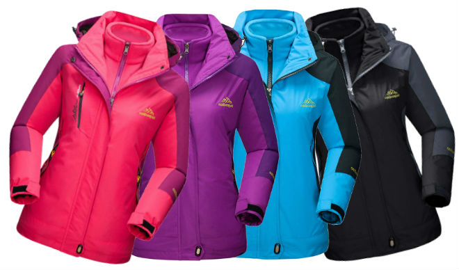 MAGCOMSEN Womens Outdoor 3-in-1 Ski Jacket