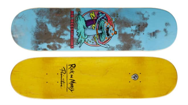 Rick and Morty Mr Meeshrooms Skateboard Deck