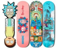Rick and Morty Skateboard Collection