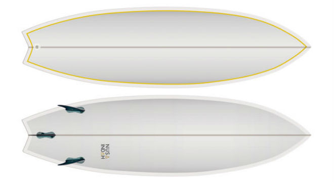 Fish-shaped Surfboard