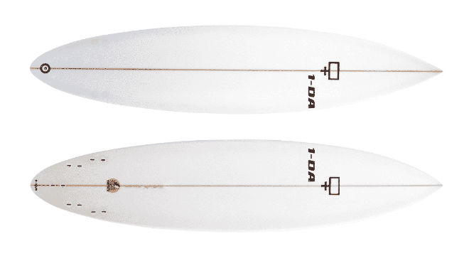 Gun-shaped Surfboard