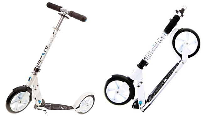 Micro White and Black Adult Kick Scooters