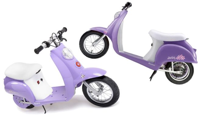 Razor Pocket Mod Miniature Euro Electric Scooter Purple
