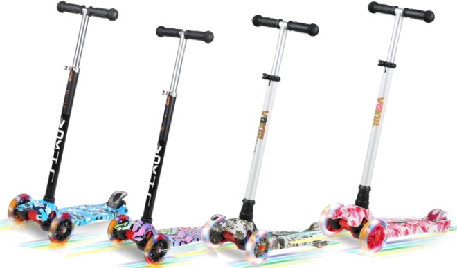 Vokul 3-Wheel Mini Kick Scooter