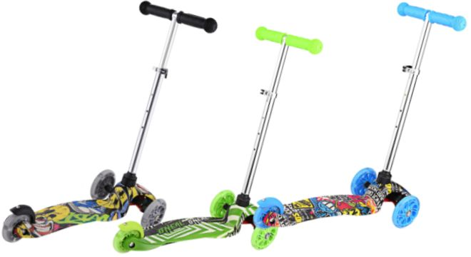 ANCHEER Kick Scooter for Kids Toddlers 3 Wheels