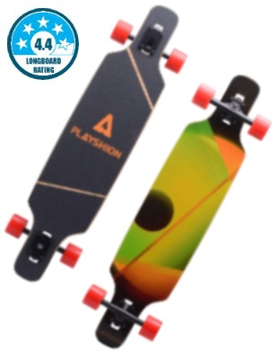 Playshion Drop Through Longboard 39 inches