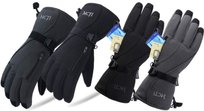 MCTi Waterproof Mens Ski Gloves