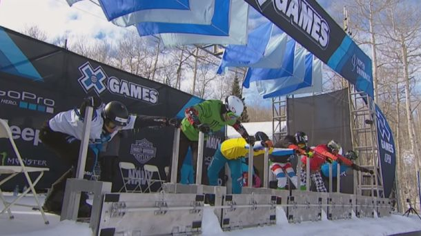 Are the snowboard events like the X-Games
