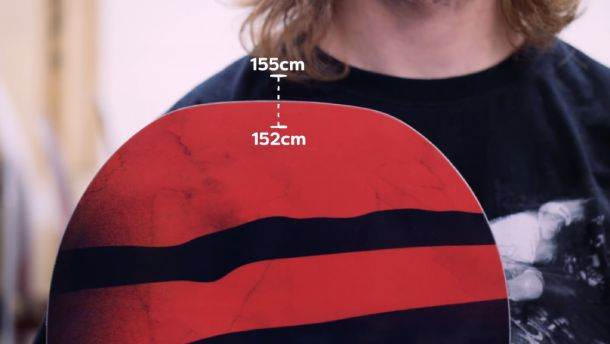 How to calculate the height of the snowboard