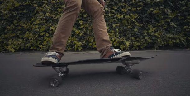 Longboard skateboarder