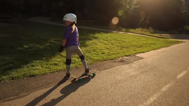 Take kids out and skateboard together