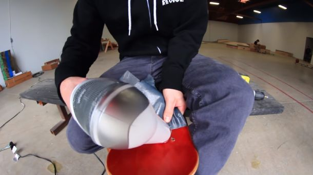 Using a hair dryer